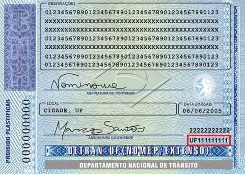 Registro Nacional de Carteira de Habilitação